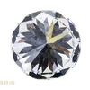 0.87 ct. Round Cut 3 Stone Ring, H, VS2 #4