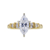 1.41 ct. Marquise Cut Solitaire Ring, E, I2 #3