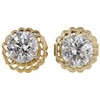 1.0 ct. Round Cut Stud Earrings, J, SI2 #3