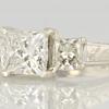1.93 ct. Princess Cut 3 Stone Ring #2