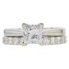 1.02 ct. Princess Cut Bridal Set Ring, D, VS2 #3
