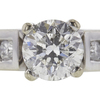 0.95 ct. Round Cut Bridal Set Ring, F-G, I2 #1