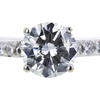 1.03 ct. Round Cut Bridal Set Ring, G, I1 #4
