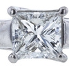 1.01 ct. Princess Cut Bridal Set Ring, H, SI1 #1