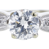 1.00 ct. Round Cut Bridal Set Ring, H, SI2 #4