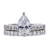 1.34 ct. Pear Cut Bridal Set Ring, E, SI2 #3