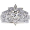 1.01 ct. Round Cut Central Cluster Ring, K, VS2 #3