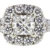 0.9 ct. Princess Cut Bridal Set Ring, I, SI2 #4