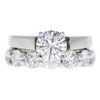 0.96 ct. Round Cut Bridal Set Ring, G, SI1 #3