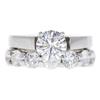 0.96 ct. Round Cut Bridal Set Ring, G, SI1 #3