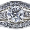 1.01 ct. Round Cut Bridal Set Ring, G, VS2 #4