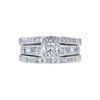 0.73 ct. Princess Cut Bridal Set Ring, H, SI1 #3