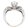 1.0 ct. Marquise Cut Bridal Set Ring, H, SI2 #4
