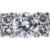 0.54 ct. Round Cut 3 Stone Ring, F-G, VS2-SI1 #1
