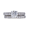 0.84 ct. Round Cut Bridal Set Ring, F, SI1 #3