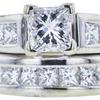 0.74 ct. Princess Cut Bridal Set Ring, E, SI1 #4