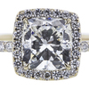 1.50 ct. Cushion Cut Halo Ring, I, SI1 #1