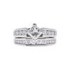 1.01 ct. Princess Cut Bridal Set Ring, I, SI2 #3