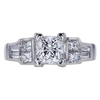 1.21 ct. Princess Cut Solitaire Ring, F, I1 #3