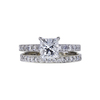 1.20 ct. Princess Cut Bridal Set Ring, F, SI2 #3