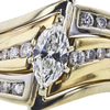 0.74 ct. Marquise Cut Bridal Set Ring, H, SI1 #4