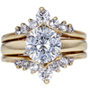 2.15 ct. Round Cut Bridal Set Ring, G-H, I1-I2 #1