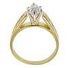 0.95 ct. Marquise Cut Bridal Set Ring, G-H, SI1 #3