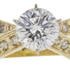 1.28 ct. Round Cut Solitaire Ring, F, SI2 #4