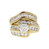 1.18 ct. Round Cut Bridal Set Ring, K-L, I2 #2