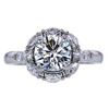 1.40 ct. Round Cut Central Cluster Ring, F, VVS1 #2
