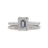 1.01 ct. Emerald Cut Bridal Set Tacori Ring, G, VS2 #3