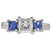 1.01 ct. Princess Cut 3 Stone Ring, G, SI2 #3