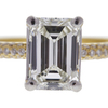 1.55 ct. Emerald Cut Bridal Set Ring, H, VVS2 #4