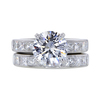 2.56 ct. Round Cut Bridal Set Ring #1