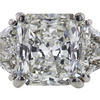 2.07 ct. Radiant Cut 3 Stone Ring, I, SI1 #4