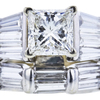 1.05 ct. Princess Cut Bridal Set Ring, I, SI2 #4