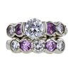 0.87 ct. Round Cut Bridal Set Ring, H-I, I1 #2