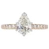 1.02 ct. Pear Cut Bridal Set Ring, I, VS2 #3