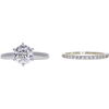 1.64 ct. Round Cut Bridal Set Ring, F, I2 #3