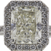 4.01 ct. Radiant Cut Halo Ring, K, SI1 #4