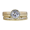 1.01 ct. Round Cut Bridal Set Ring, I, VS1 #3