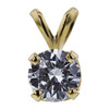 0.71 ct. Round Cut Pendant Necklace, D, VS2 #1