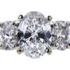 0.97 ct. Oval Cut 3 Stone Ring, F, I1 #4