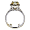 1.49 ct. Cushion Cut Halo Ring, Fancy, VS1 #3