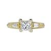 0.98 ct. Princess Cut 3 Stone Ring, J, VS2 #3