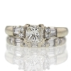 1.03 ct. Princess Cut Bridal Set Ring #2
