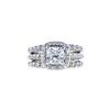 1.20 ct. Radiant Cut Bridal Set Ring, H, SI2 #2