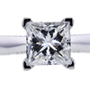 1.09 ct. Princess Cut Solitaire Ring, G, VS2 #4