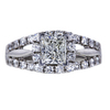 1.02 ct. Princess Cut Halo Ring, J, SI1 #3
