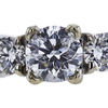 1.01 ct. Round Cut 3 Stone Ring, D, SI2 #1